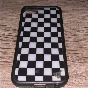 checkerboard wildflower phone case